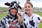 Mooathon takes place in September in Ireland. All entrants MUST wear black and white clothing on race day. We've experimented with a number of milking station setups but there will be at least 3 manned milking stations along each 13.1 mile section of the course and one at the finish line. Sports drinks will be available as well as some basic first aid and radios/phones for calling for help.
