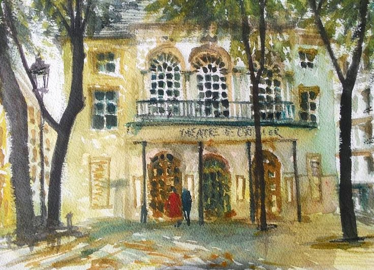 Théâtre de l'Atelier, Paris.  .  .  #theatredelatelier #montmartre #sketch #urbansketchers #urbansketch #Paris #arquitectura #architecture #croquis #watercolour #watercolor #aquarelle #acuarela #akvarell #drawing #painting #illustration #arqsketch #archisketcher #arch_more #locationdrawing #pleinairpainting #uskparis #uskfrance #travelsketch #livepainting