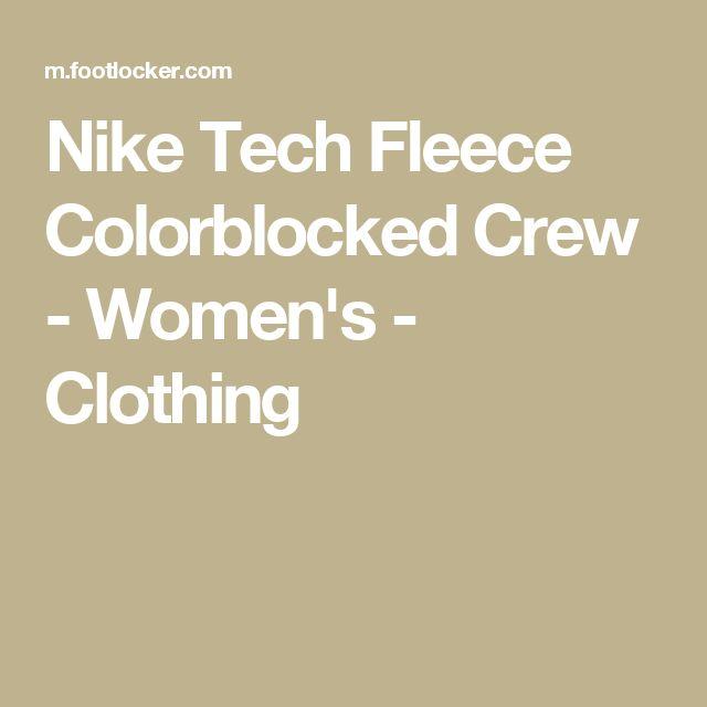 Nike Tech Fleece Colorblocked Crew - Women's - Clothing