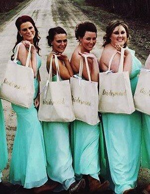 Bridesmaid Tote Bags  Bridesmaid Gifts  by OhLOLAandco on Etsy