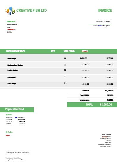 27 best Creative invoice templates for freelancers images on - invoice template word 2007 free download