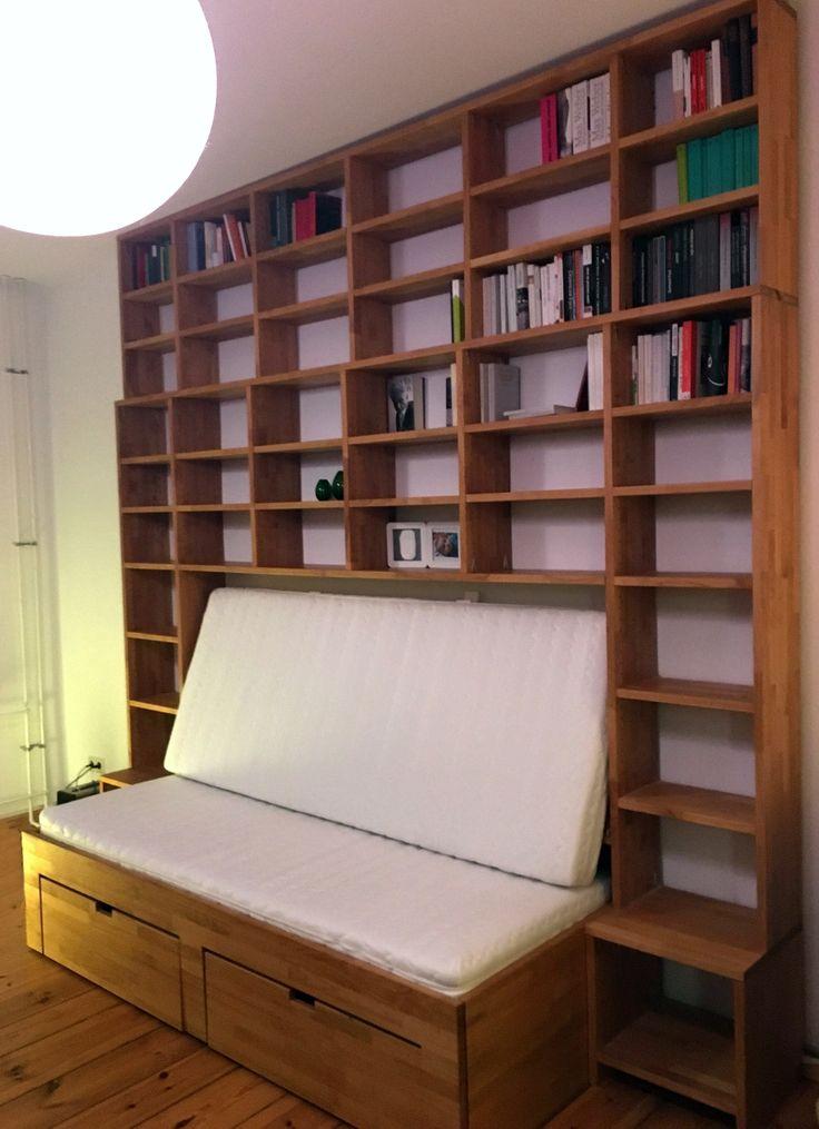 Neueste Kreation speziell für kleine Räume: Nachts ein #Bett und tagsüber ein #Sofa. #multifunktional