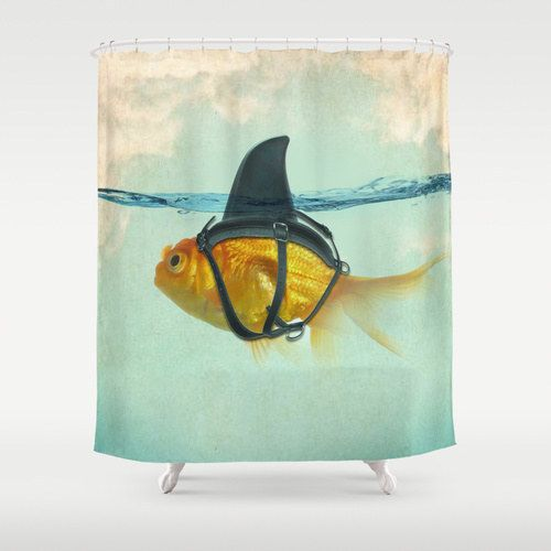 This shower curtain that will remind you that things are not always what they seem.   23 Unexpected Things You Didn't Know Your Bathroom Needed
