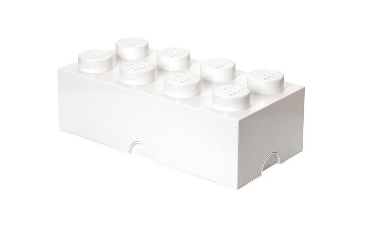 Deze witte LEGO mini opbergbox is ideaal voor het opbergen van bijvoorbeeld snoepgoed, kleine etenswaren, sieraden en natuurlijk ook voor jouw LEGO steentjes. Deze mini opbergbox is leverbaar in verschillende kleuren. Afmetingen: 4,6 x 9,2 x 4,3 cm.   Afmeting: volgt later.. - Opbergbox Lego MINI: brick 8 wit