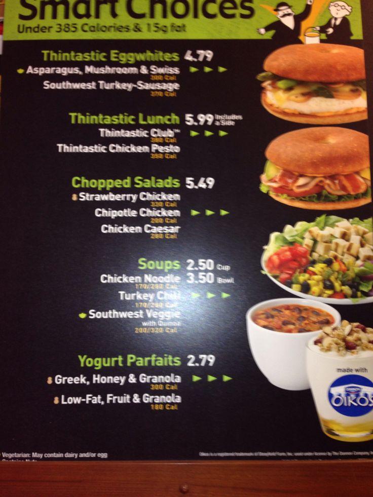 Einstein bagels menu