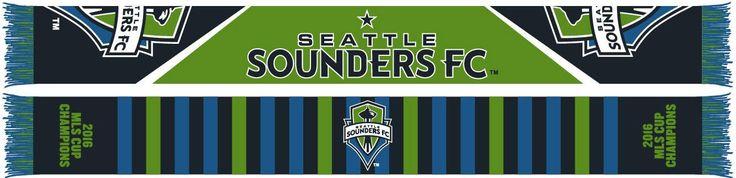 SEATTLE SOUNDERS 2016 MLS CUP CHAMPIONS SCARF - Split Bars **Pre-order**
