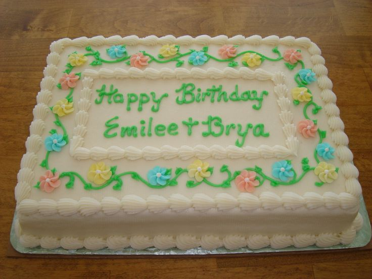 1/4 sheet birthday cake images | happy birthday emilee brya 1 4 sheet vanilla butternut pound cake with ...