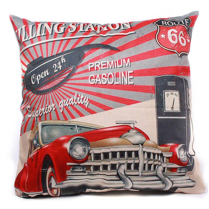 45x45cm micro-velboa decoración fundas de colchón funda de almohada de coches de época tiro hogar