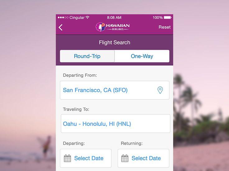 Hawaiian Airlines iOS Redesign