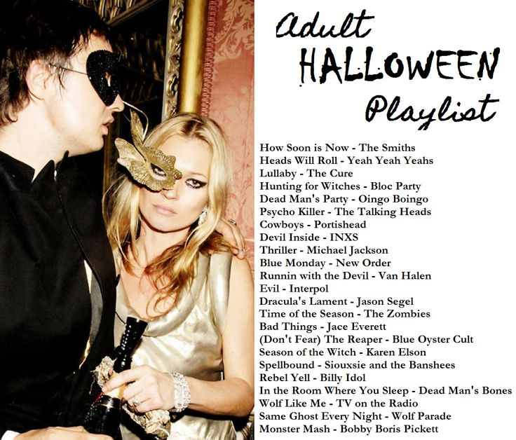 Adult Halloween Party Playlist