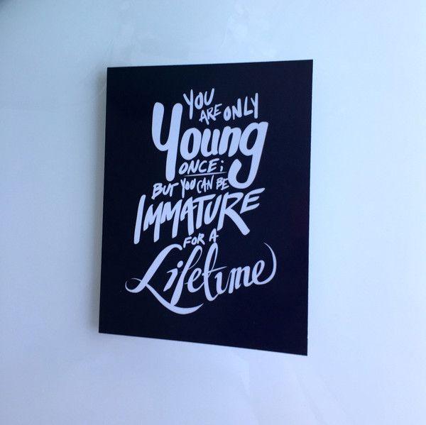 'Immature' Birthday Card