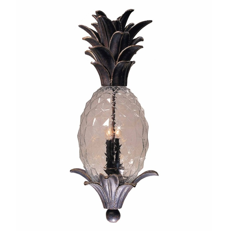 49 best images about pineapples palm trees on pinterest tiki torches kitchen rug and for Pineapple exterior light fixtures