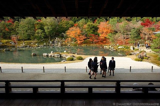 Tenryu-ji Temple is the headline attraction in Arashiyama, a sprawling Zen temple with one of the finest gardens in Kyoto and wonderful mountain views.