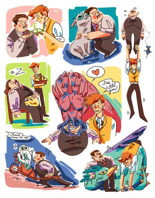 art of jacob and newt having fun adventures together :-) Pinned by @lilyriverside