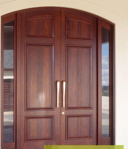 Puertas de madera para recamaras 525 613 puertas for Puerta doble madera