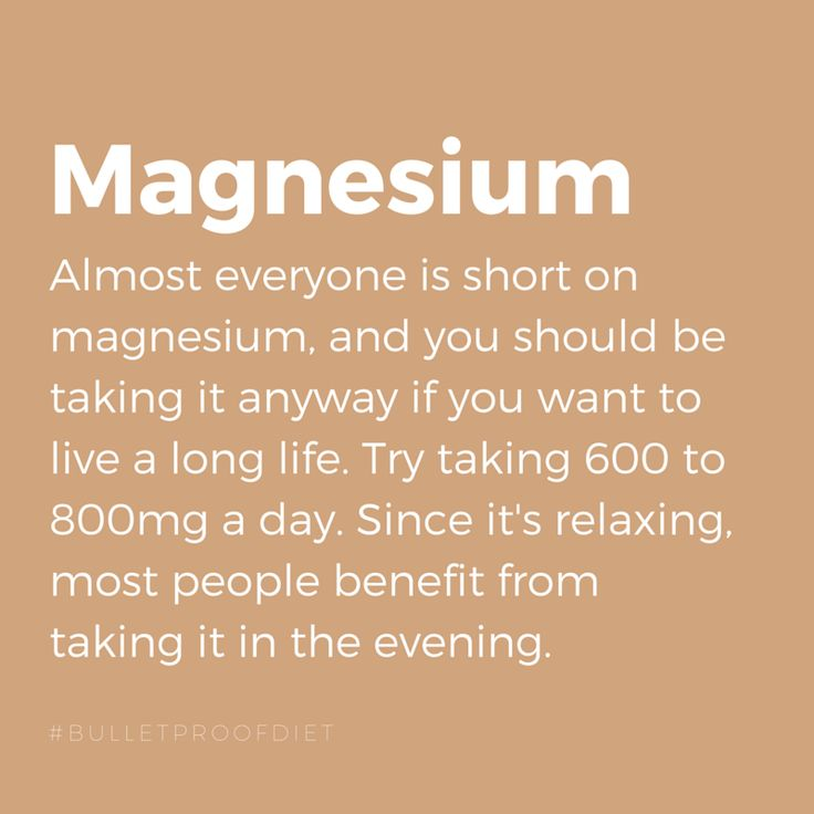 Who here takes magnesium at night? #BulletproofSupplement