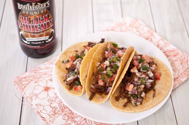 Chipotle Sout Braised Beef Tacos with Fresh Pico De Gallo: Dinner, Peak Gallo, Chipotle Stout, Recipes, Braised Beef, Beef Tacos, Fresh Pico, Stout Braised