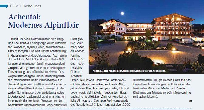 Wir wurden als #Reisetipp im #Bremen #Magazin genannt, eine freudige Überraschung zum #Wochenstart :-) #Artikel #Alpinflair #Achental #hotel #Hotels #Chiemsee