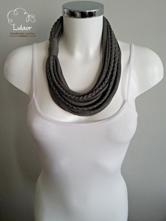 T-shirt necklace t-shirt scarf fabric scarf fabric by Lulaor