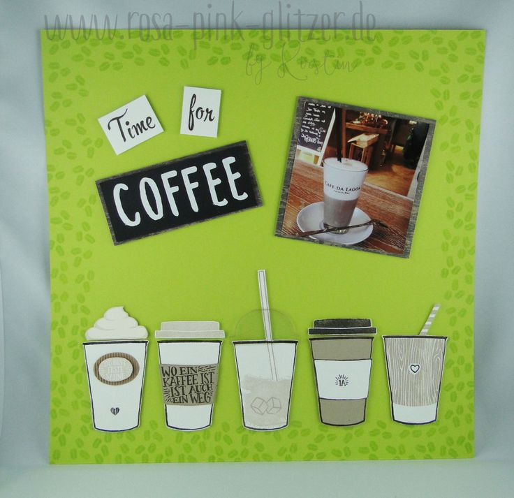 Stampin up OnStage 2017 Display Stamper – Layout mit Kaffee, olé! – Rosa, Pink & alles was glitzert