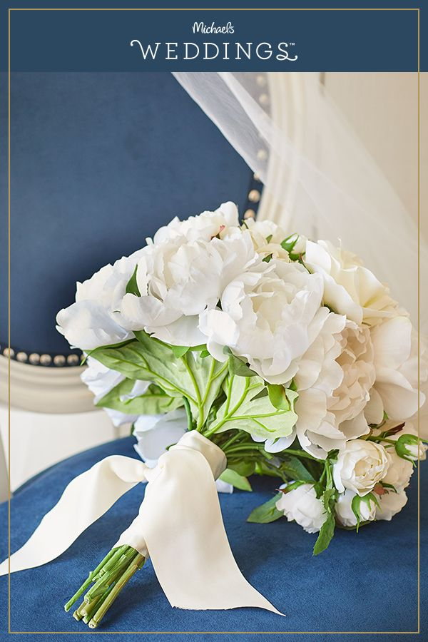 Make this white bridal bouquet project it