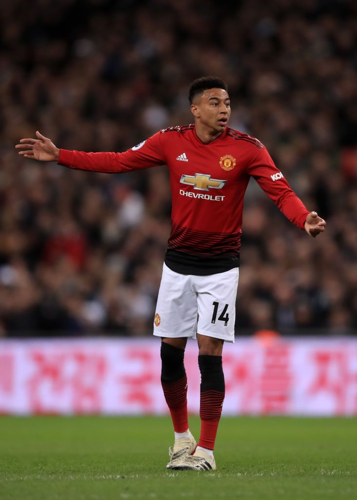 Jesse Lingard Of Manchester United During The Premier League Match Jesse Lingard Manchester United Premier League Matches