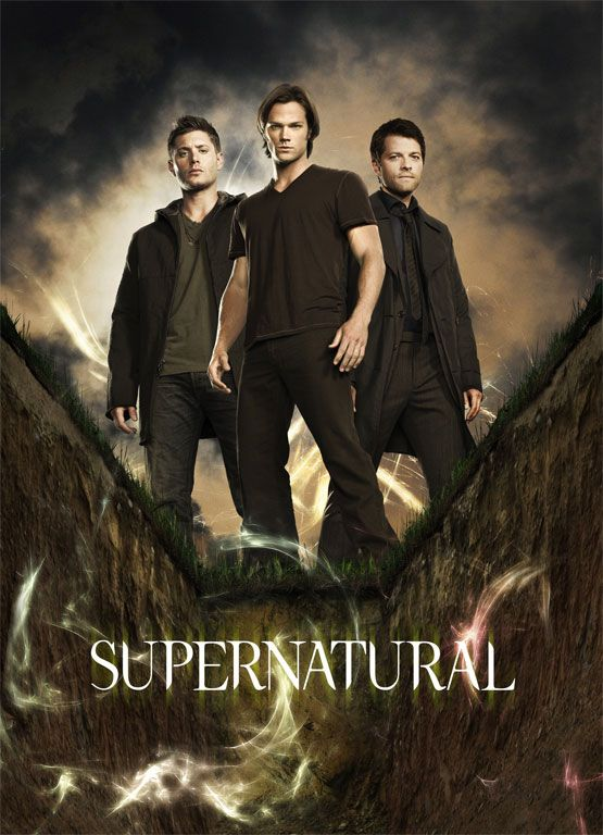Supernatural poster. (My poster hehe except mine had re printed signatures on lol)