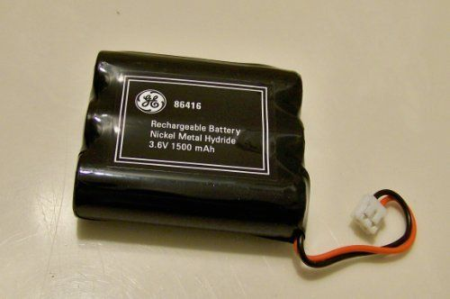 GE 3.6V 1500mAH NiCd Battery for AT, Phonemate, GE, and V-tech phones by Jasco Products. $2.50. For AT GE Phonemate NiCd1500mAh/3.6V