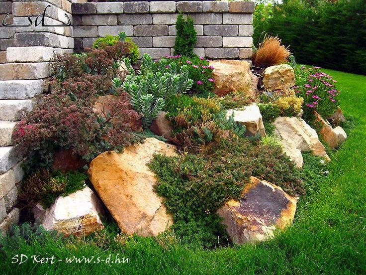 SD KERT - kertépítés, sziklakert, sziklakertépítés, szép sziklakert ötletek, képek, fotók, fényképek, kerti szikla, sziklakert megoldások, kialakítások, lejtős kertek, kertépítés domboldalon, kertépítés Dabason, Ócsán, Lajosmizsén, Monoron és Kecskeméten