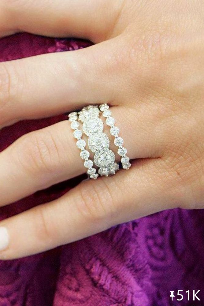 30 Best Stackable Wedding Rings Set More Rings More Shine Wedding Rings Unique Stackable Rings Wedding Wedding Ring Sets