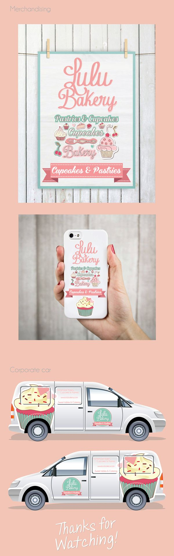 Lulu Bakery - Branding by Luciana Cruz, via Behance very thorough and consistent branding