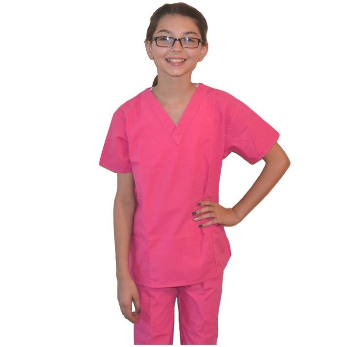 Pink Kids Scrubs form www.mykidsscrubs.com