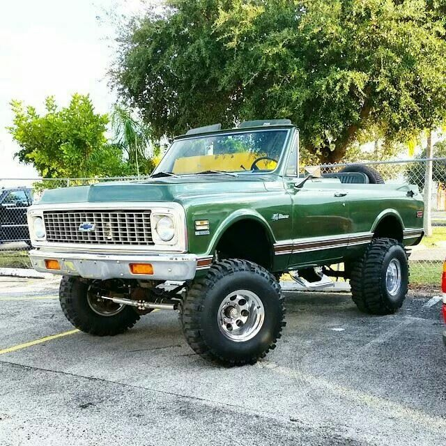 '72 Chevy Blazer with Skyjacker Suspension on Mickey Thompson Wheels and Tires.