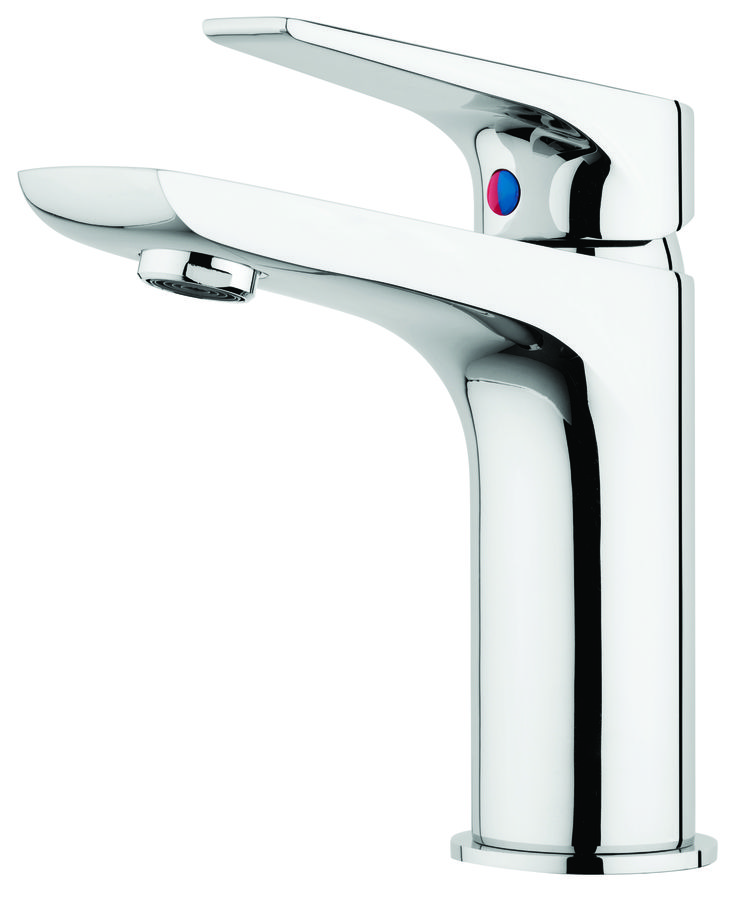 Solitaire Basin Mixer (SLT020) in Chrome.