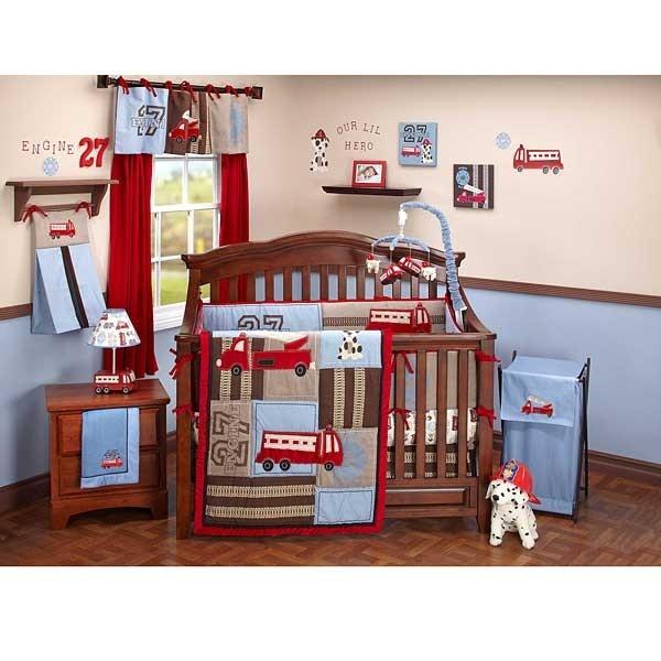 Baby Boy Room Engine 27 6 Piece Crib Bedding Set By Nojo