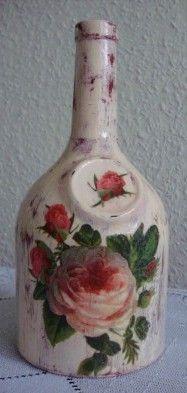 cudARTeńka: Butelki na nalewki z motywami roślinnymi