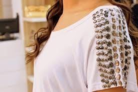 blusas bordadas com chaton - Pesquisa Google