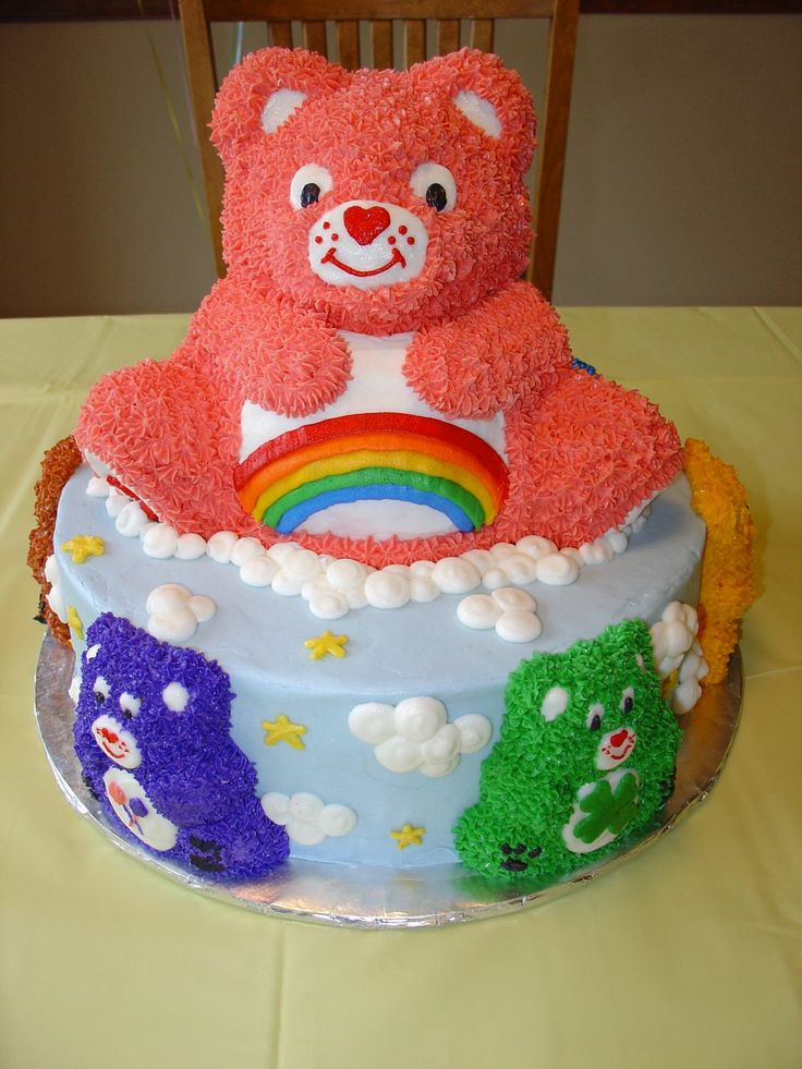 Cheer Bear And Friends This Cake Is Iced Smooth With