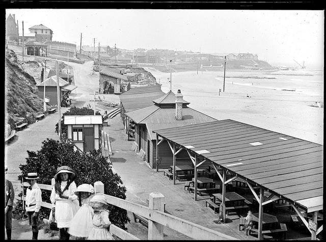 Newcastle Beach and promenade, Newcastle, NSW, 12 February 1912. History NSW