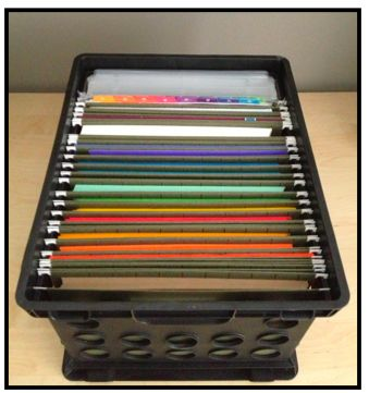 This is an easy way to keep construction paper and cardstock organized, but there are even more ideas when you click through!