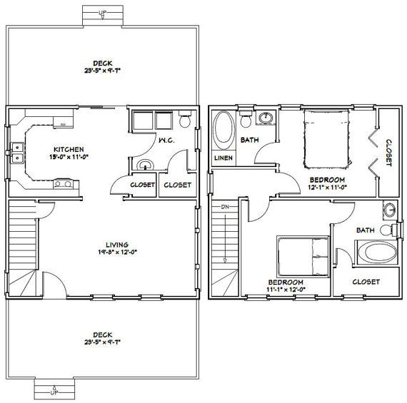 24x24 Two Story House Plans 28 Images 24 X 36 House