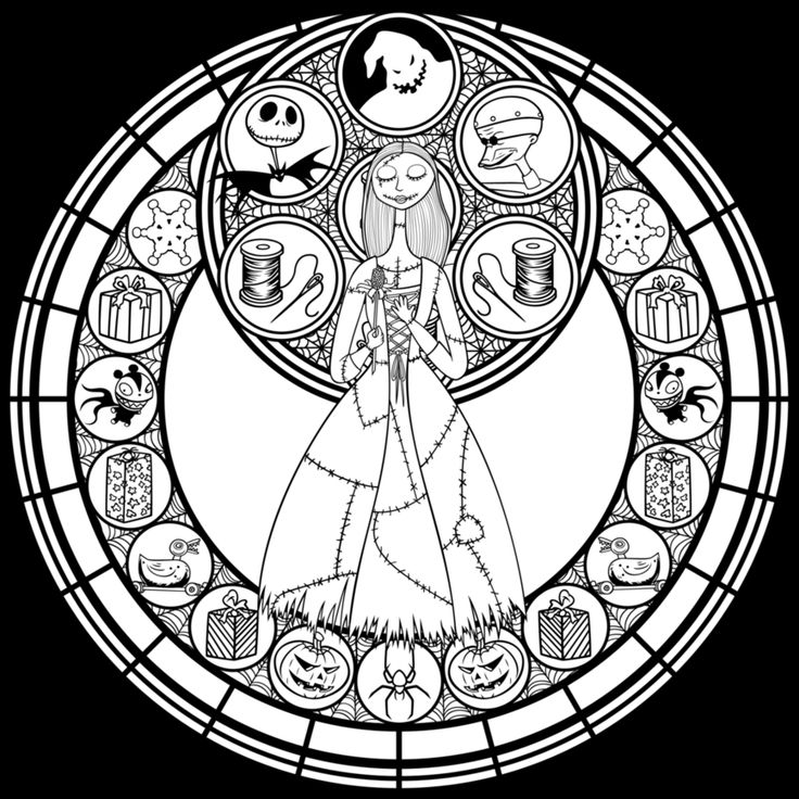Stained Glass Sally Remastered Line Art By Akili