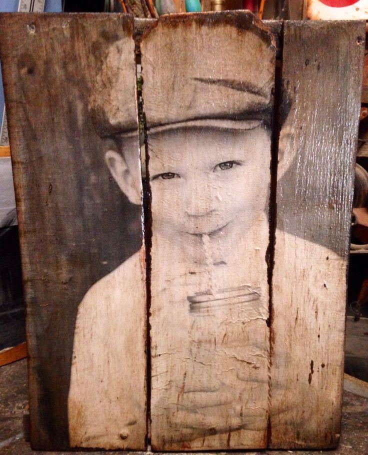 fotografías y retratos sobre palets