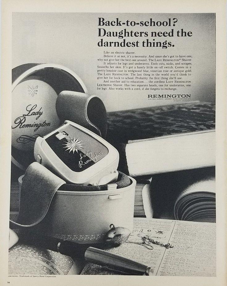 1965 Lady Remington Electric Shaver Vintage Ad