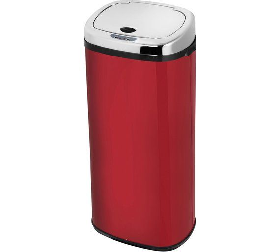 Buy Morphy Richards Chroma 50L Square Sensor Bin - Red at Argos.co.uk - Your Online Shop for Kitchen bins, Kitchenware, Cooking, dining and kitchen equipment, Home and garden.
