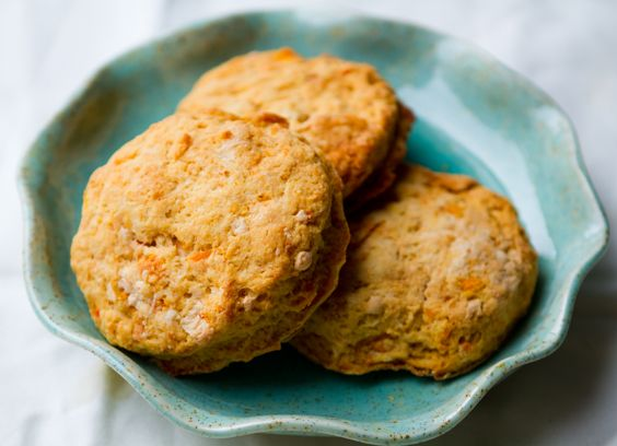 Sweet potato buttery biscuits. Good if you have sensitivity to eggs ...