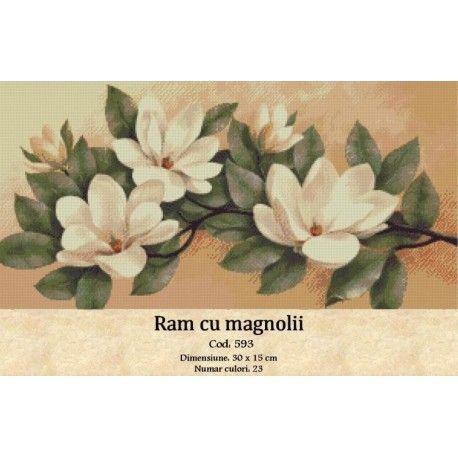 Model set goblen Ram cu magnolii http://set-goblen.ro/flori/3571-ram-cu-magnolii.html