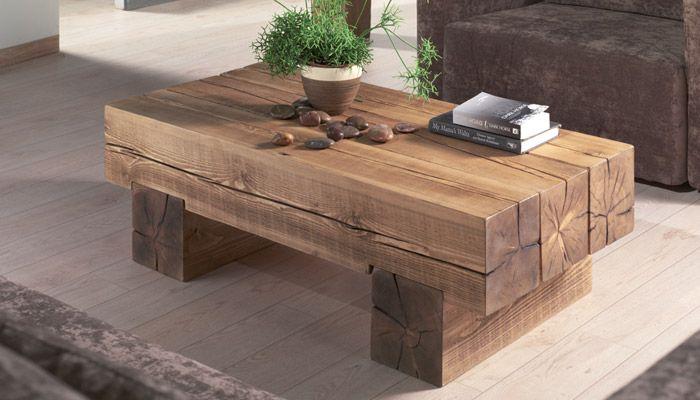 table basse poutre cr ation meubles pinterest poutres caf et tables basses. Black Bedroom Furniture Sets. Home Design Ideas