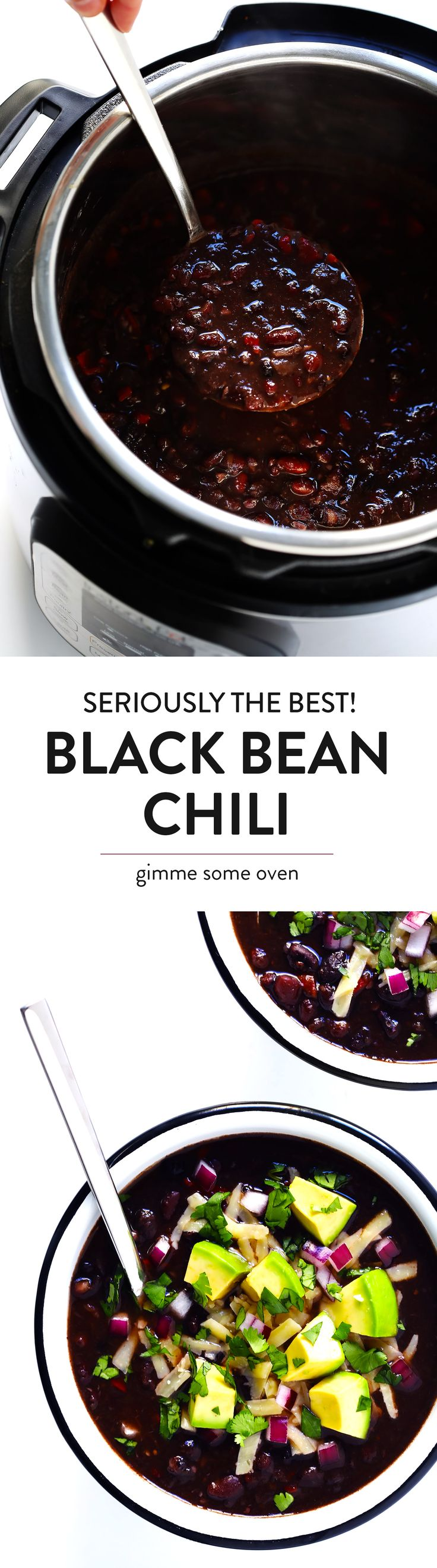 The BEST Black Bean Chili recipe - requires entire jar of salsa verde to make from scratch, maybe add ground turkey and chorizo (vegan as is)