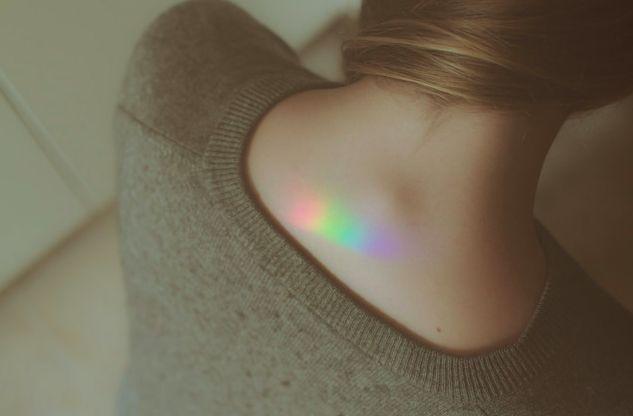 Prism tattoo.
